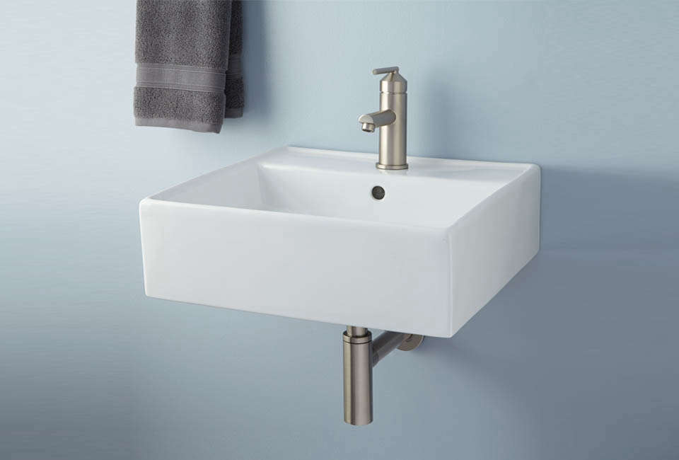 10 Easy Pieces Wall Mounted Modern Square Bath Sinks