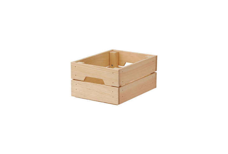 Ikea Knagglig Wood Box Crate