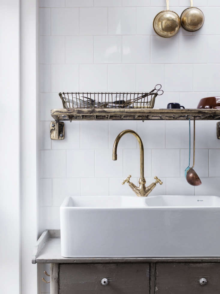 Another double-bowl sink (it's theRak Gourmet Double Bowl) in a Mark Lewis kitchen. See Kitchen of the Week: A Family Gathering Spot in a London Victorian for more. Photograph by Rory Gardiner.
