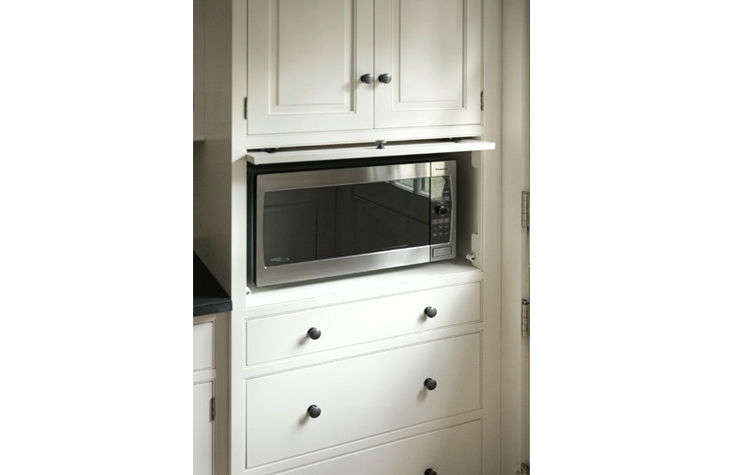 Superbe Hidden Microwave Traditional Kitchen Heartwood Kitchens