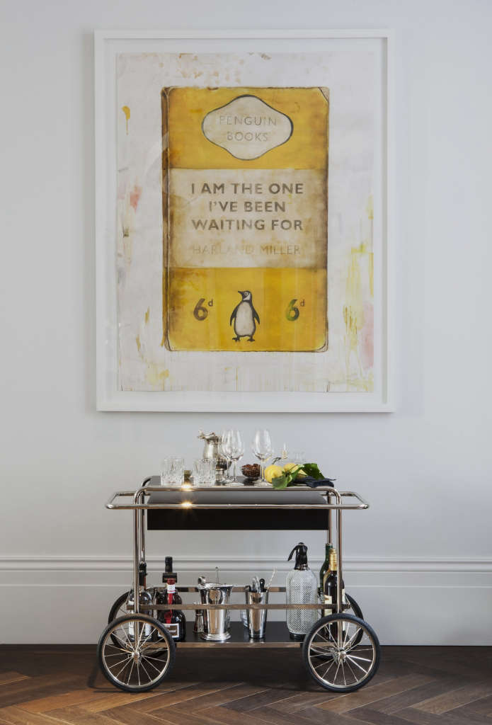 The Laslett Notting Hill Harland Miller Bar Cart