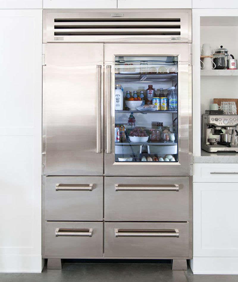 10 easy pieces glass door refrigerators remodelista for 1 glass door refrigerator