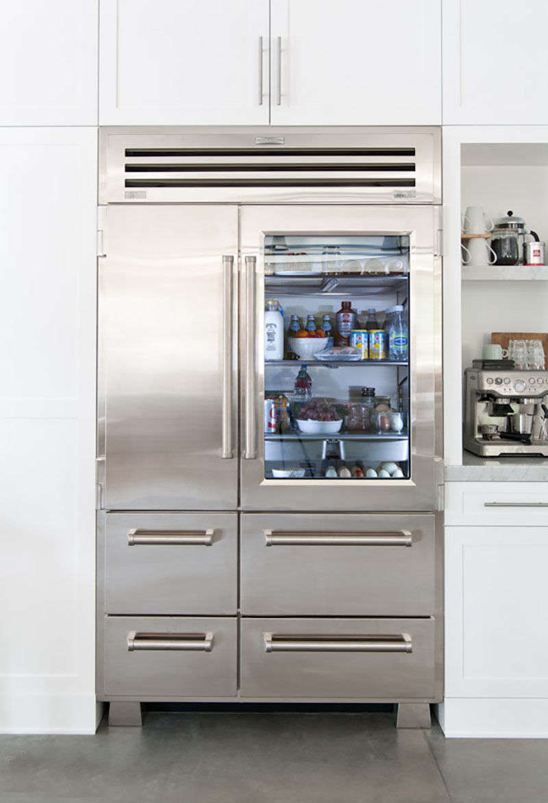 10 easy pieces glass door refrigerators remodelista