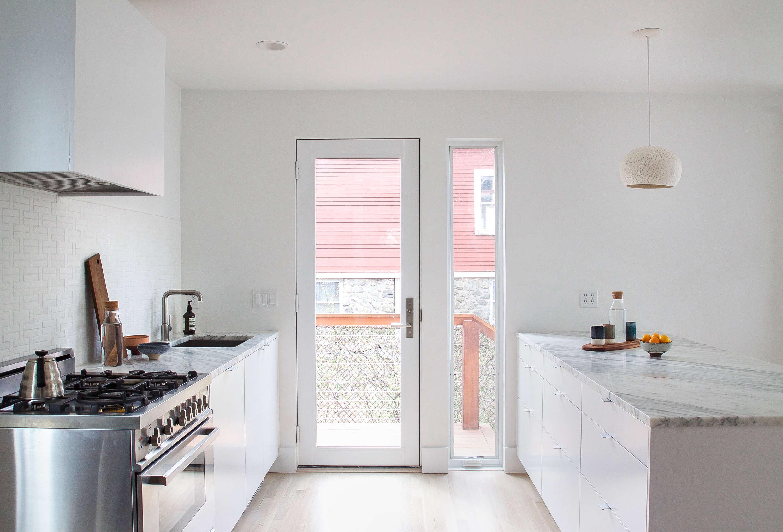 bright white kitchen rehab boston