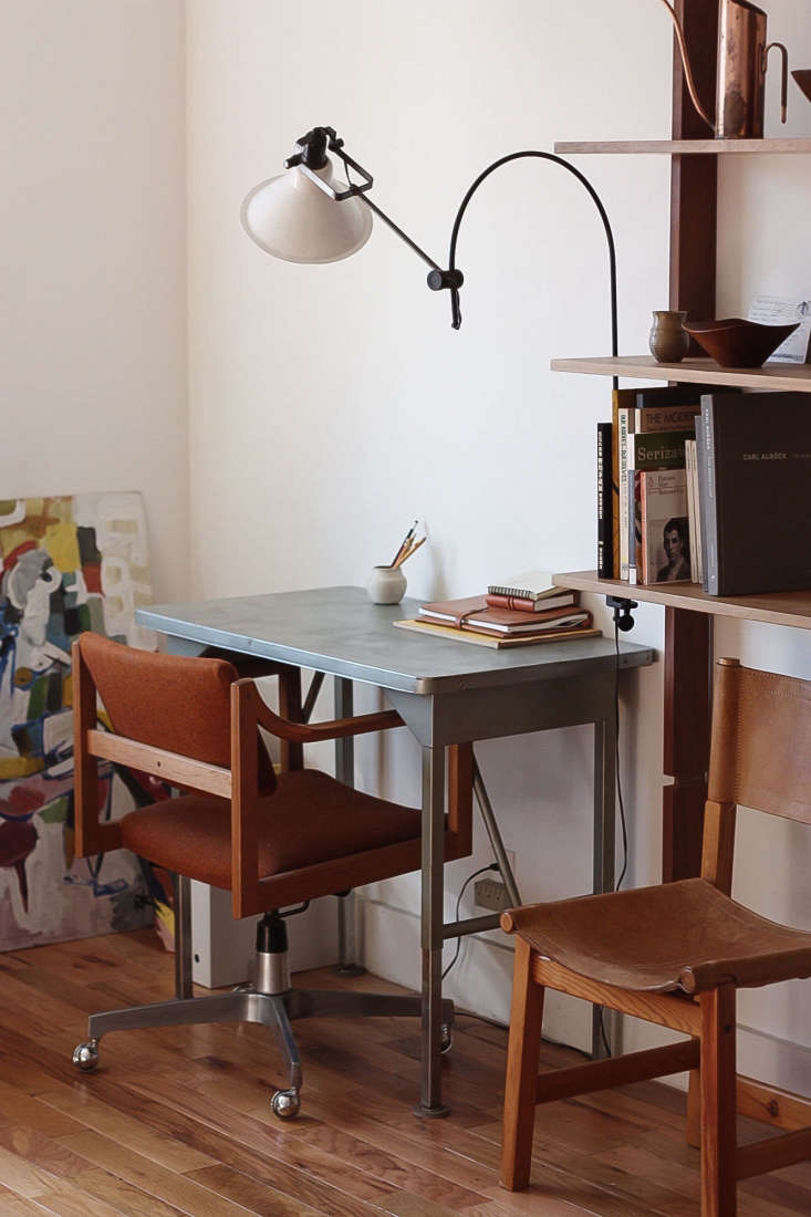 a flea market find illuminates the desk in designer kirill bergart&#8\2\17; 15
