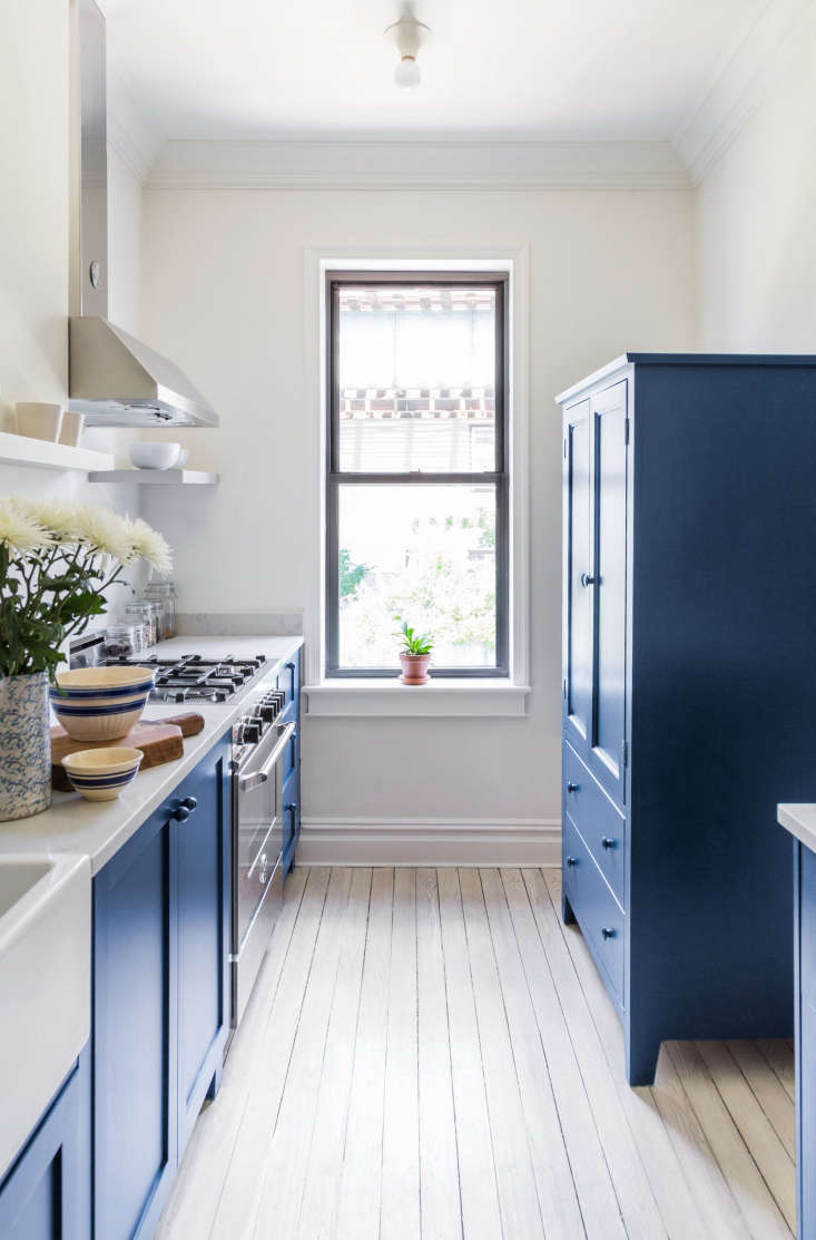 Steal This Look: A Bright Blue, Budget-Forward Kitchen in Brooklyn