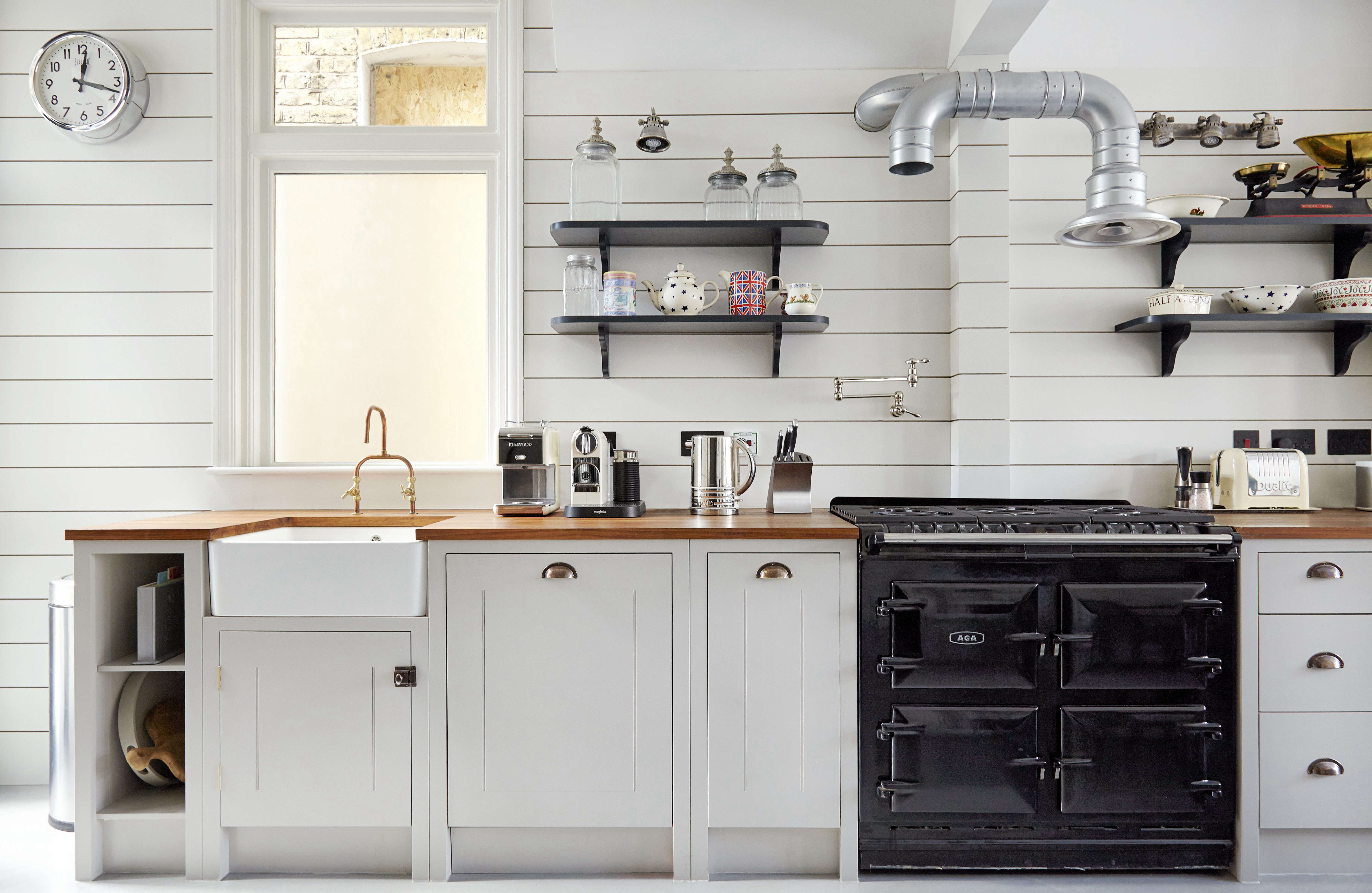 english kitchen cabinets shiplap wood paneling in a classic kitchen remodel 15162