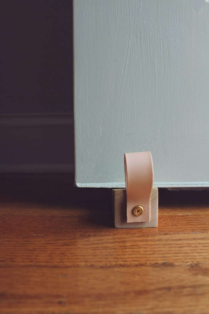 DIY Doorstop: A Wood Door Wedge With Leather Loop, A Project By Annabode For