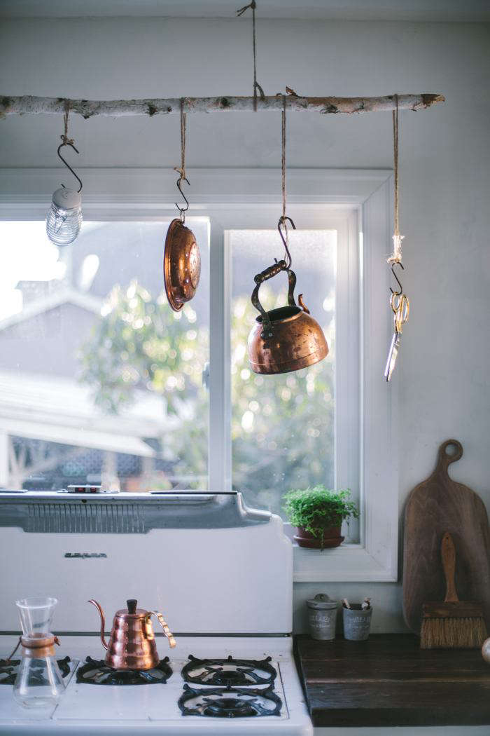Eva Kosmas Flores Kitchen Remodel Pot Rack