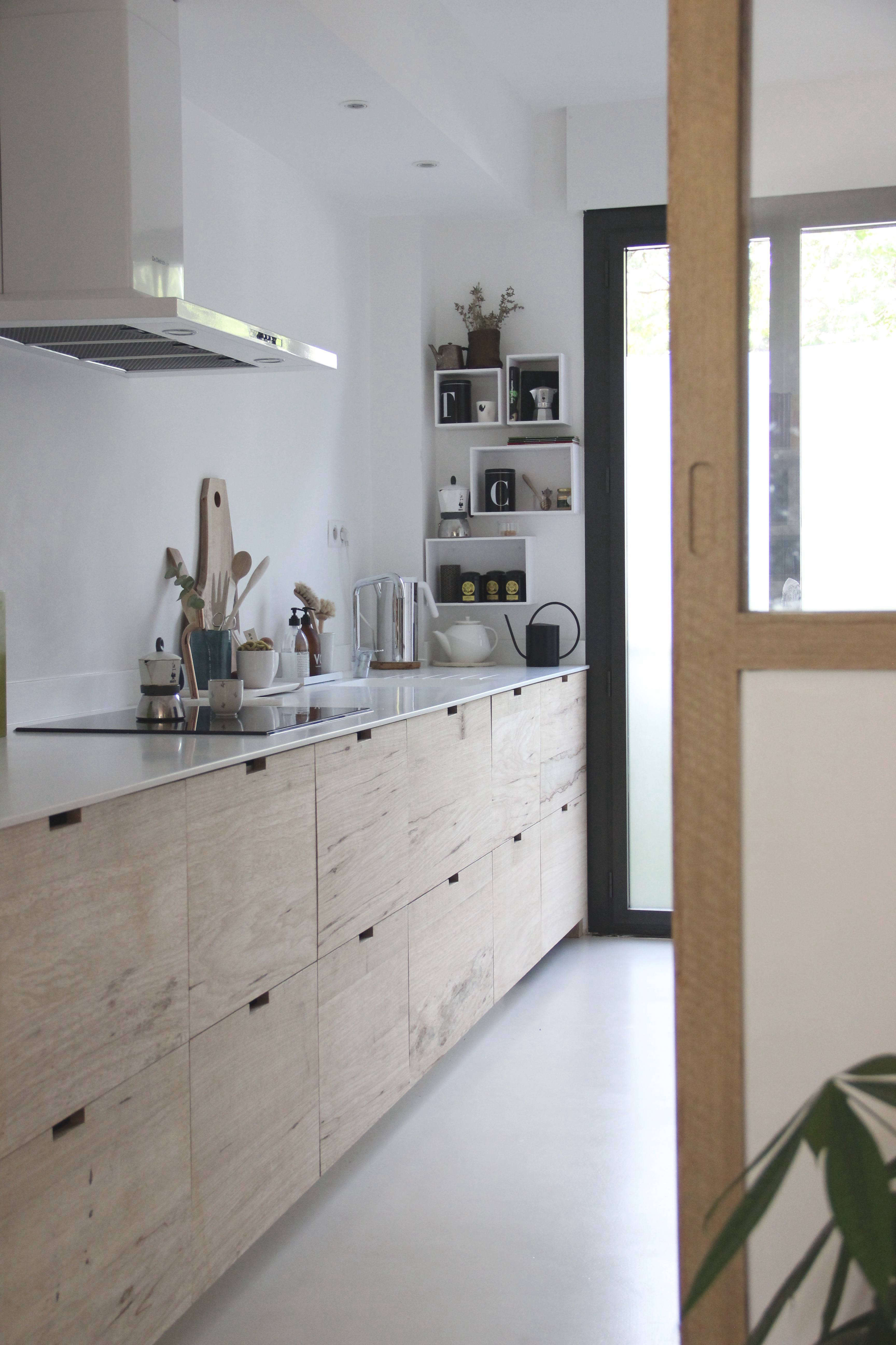 A Designer S Own Scandi Style Ikea Hack Galley Kitchen In