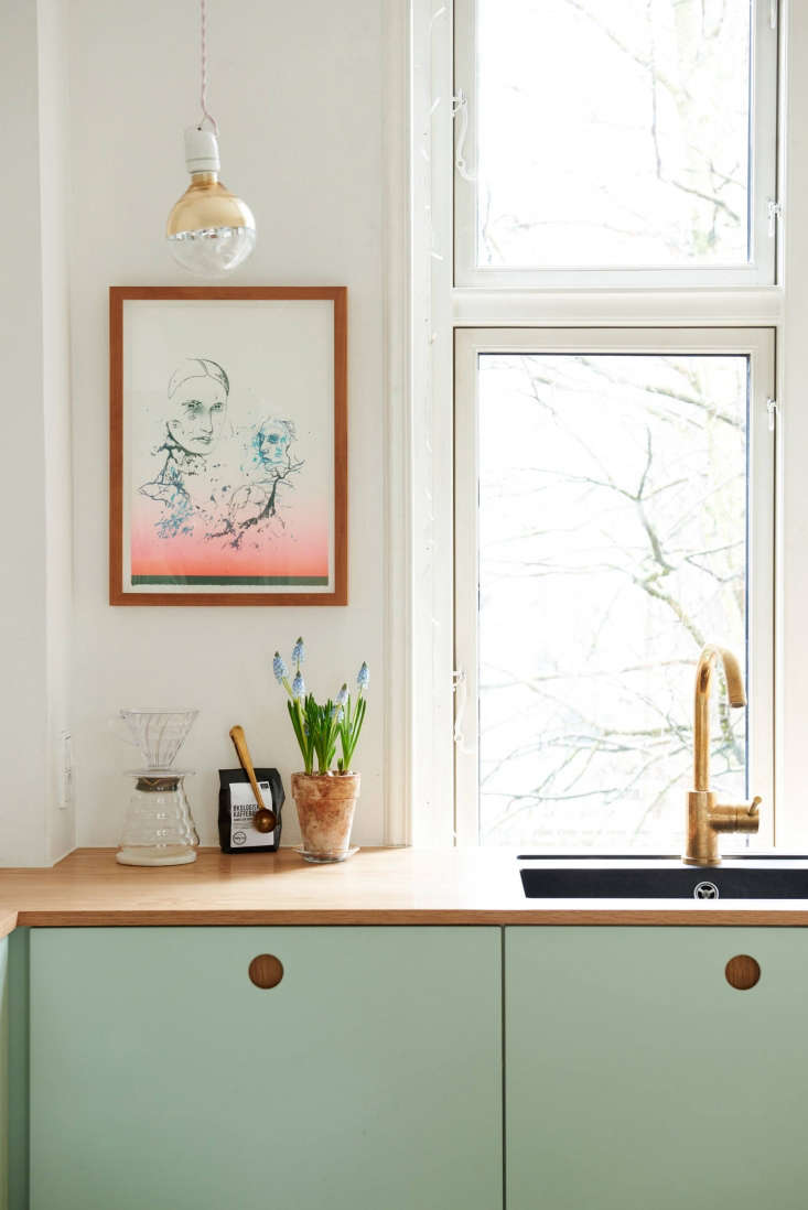 Ikea Hack Kitchen With Mint Green Cabinet Fronts And Oak Counters From  Reform Of Copenhagen