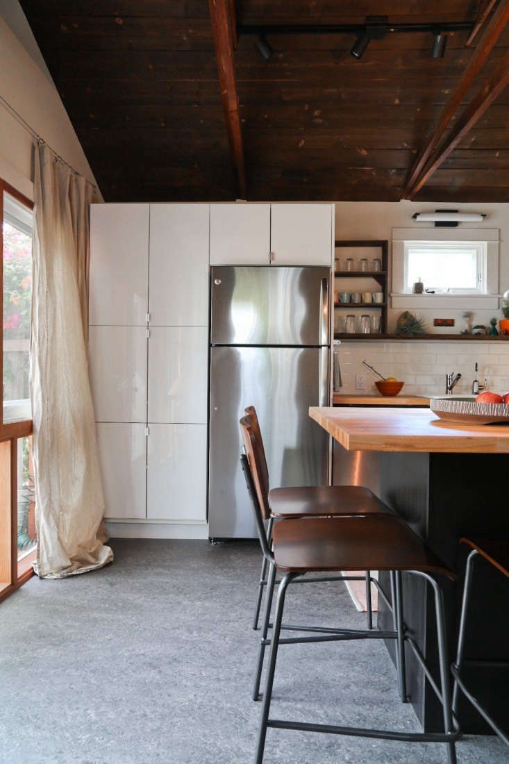 A Hollywood couple remodeled their 100-year-old garage to become a miniature house in full, complete with a living space, kitchen, bedroom, bath, and private patio. Read the whole story inRehab Diary: From Garage to Tiny Cottage in LA, on a Budget. Photograph by Bethany Nauert.