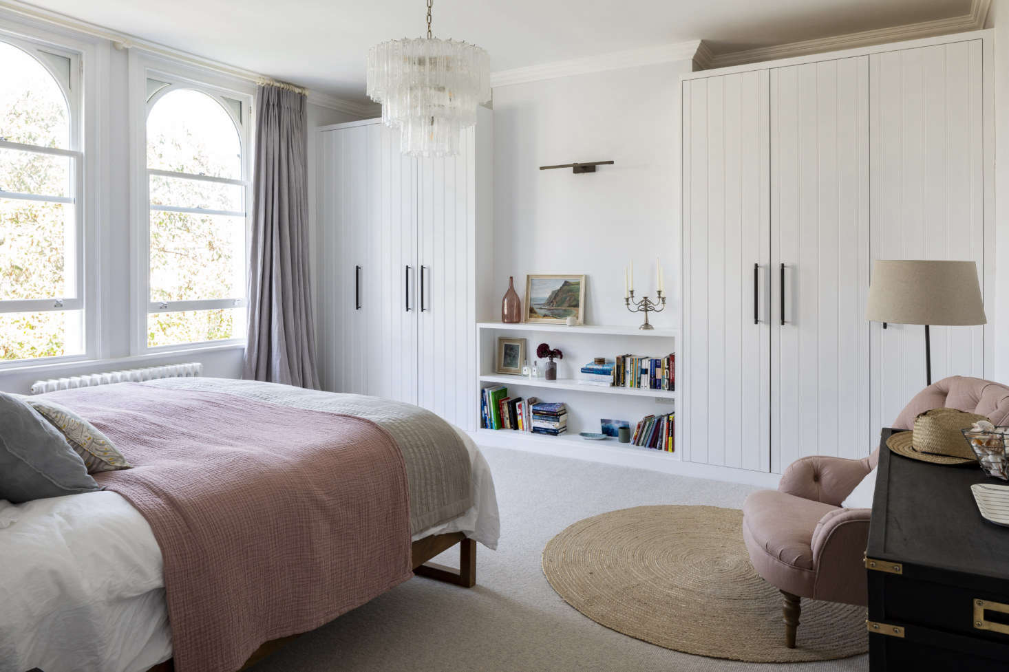 Bedroom in a family house in Barnes, London