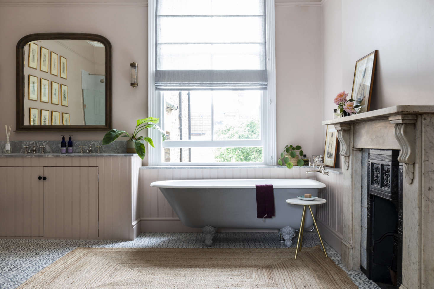 Master bathroom in this Victorian family home, London