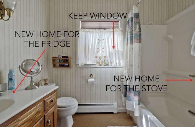 before   corner and 1st window 16