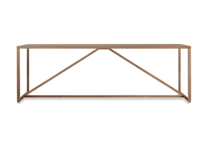 Blu Dot Strut Wood Table Walnut