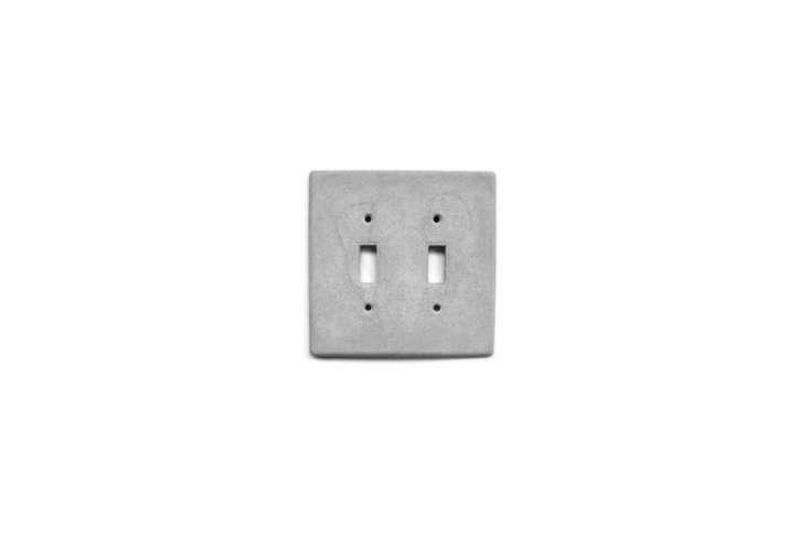 Concrete House Etsy Concrete Double Switchplate