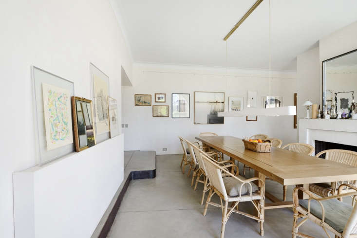 French modern country dining room, LSL Architects' refurbished 18th century farmhouse Les Baux de Provence. Katrin Vierkant photo.