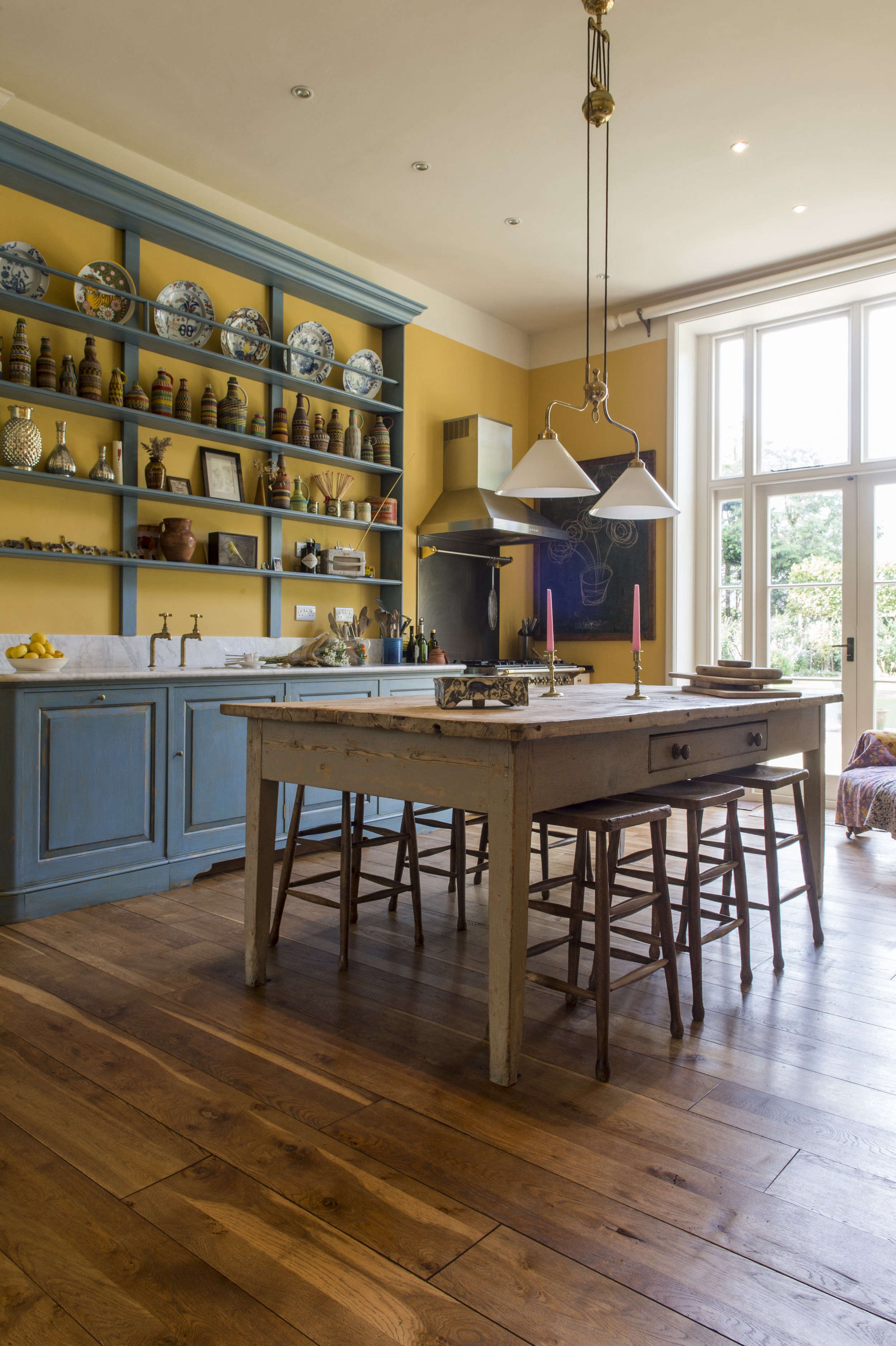 max rolitt uk colorful kitchen wood table and floors_12