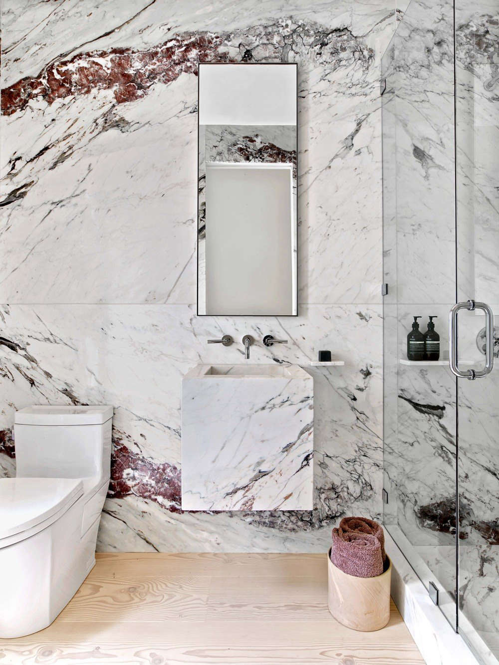 Best Professional Bath A Dramatic Marble Powder Room By Ccs Architecture Remodelista