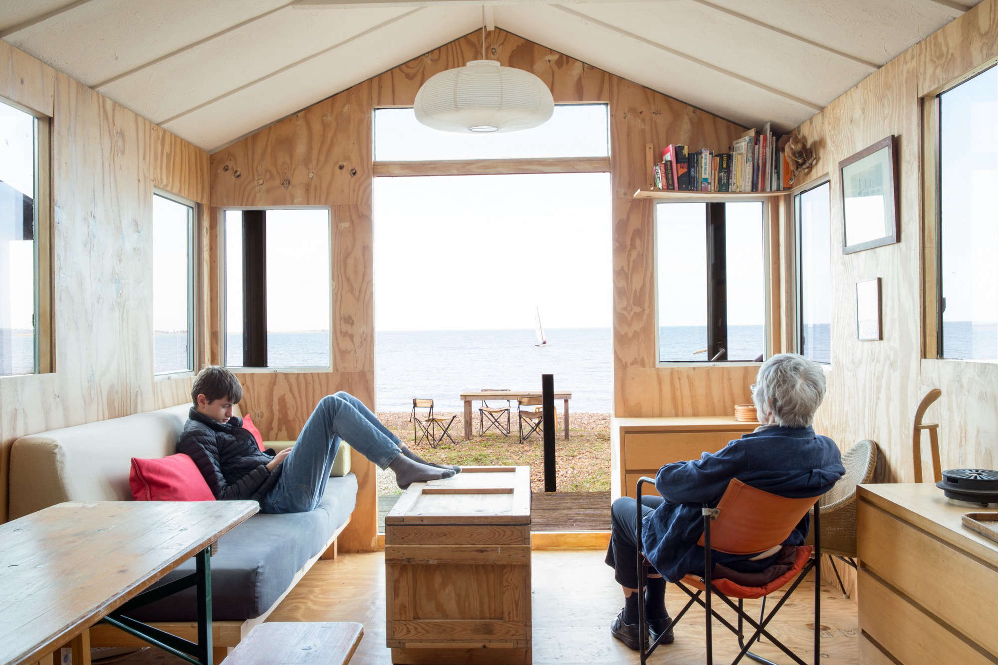 Stylish Tiny House Beach Shack With Ikea Hack Kitchen Marcia Mihotich And Durrell Bishop