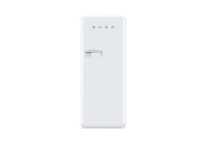 the smeg \24 inch \1950s retro design refrigerator is \$\1,999 at aj madison. 13