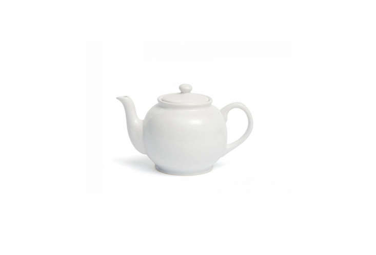 Traditional Staffordshire Potteries Round White Teapot