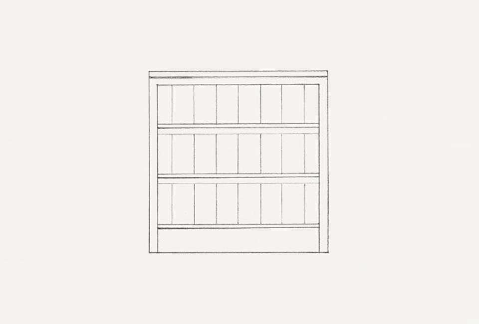 Wide Open Slatted Shelves