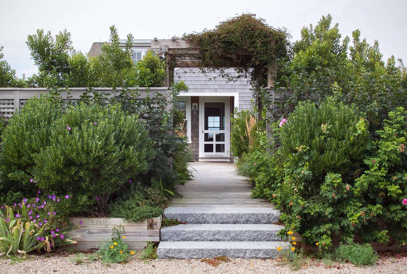cape cod coastal garden entrance