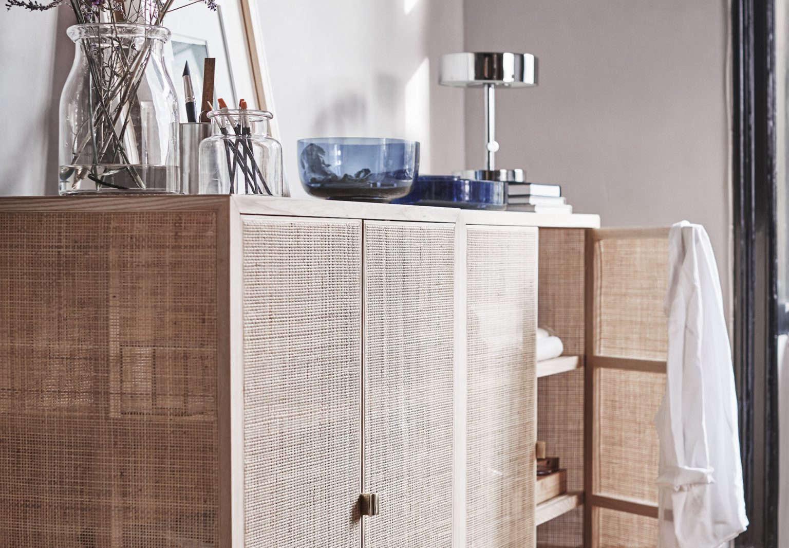 ikea stockholm 2017 cane cabinet