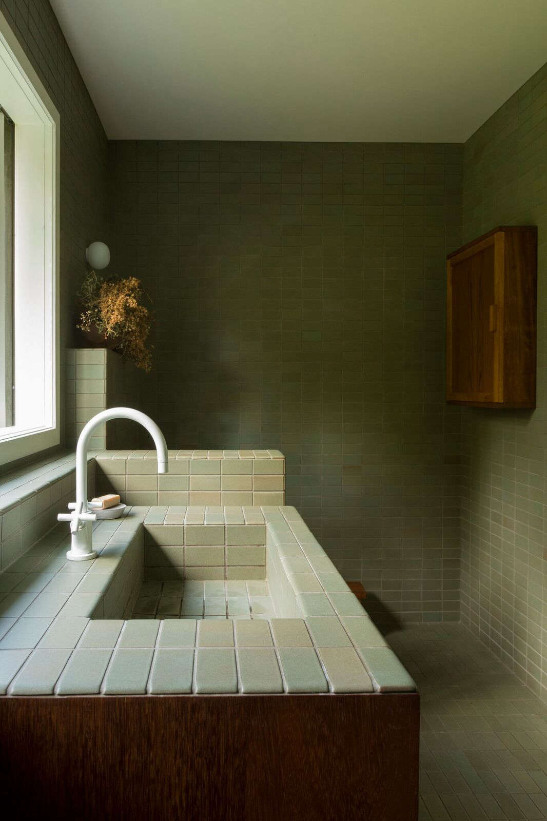 Bathroom of the Week: Two Bath Remodels with Bold Green Tile in ...