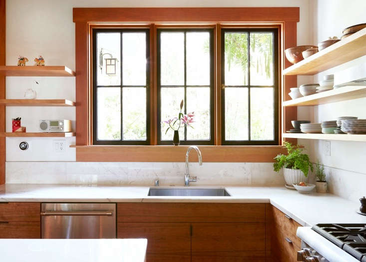 """A moderately sized undermount sink gets the job done in Kitchen of the Week: Aya Brackett's Hippie House Update in Oakland (and it's economical, too: Brackettadmired a $2,000 sink before settling on this $300 version byKrausfrom Amazon. """"It's been awesome,"""" she said. """"We didn't need to spend that much."""")"""