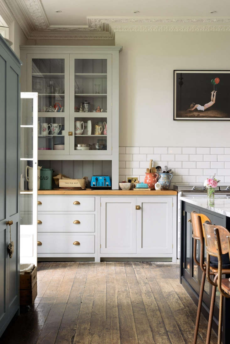 Shaker style cabinetry in romantic English Country kitchen designed by deVOL