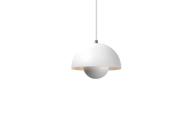 Hive stocks the Verner Panton VP1 Flowerpot Suspension Lamp in a slew of colors, including white and matte white; $380.