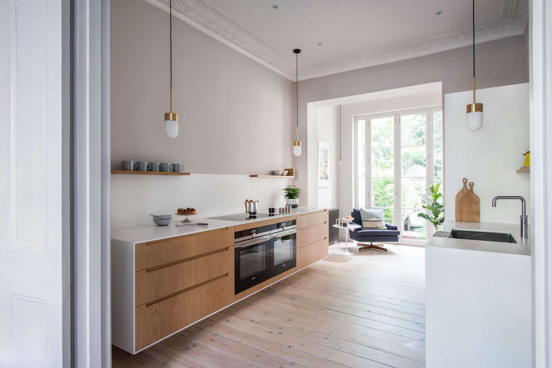 Kitchen Of The Week A Minimalist Galley Kitchen In A Georgian London Townhouse Remodelista