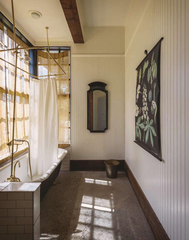 bathroom antique art brass fixtures white tile old chaser seattle 5