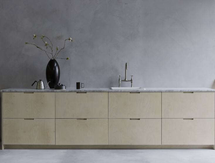 Made-to-order custom cabinet fronts for Ikea base kitchen components can be ordered from Custom Front, a husband-and-wife team out of Sussex, England. For more see Custom Fronts: Bespoke Ikea Cabinet Doors Inspired by Nature.
