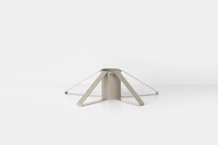 The powder-coated grayChristmas Tree Foot from Swedish company Ferm Living is €69 (\$8\2). You can also find it at Mood and Truce in the UK.