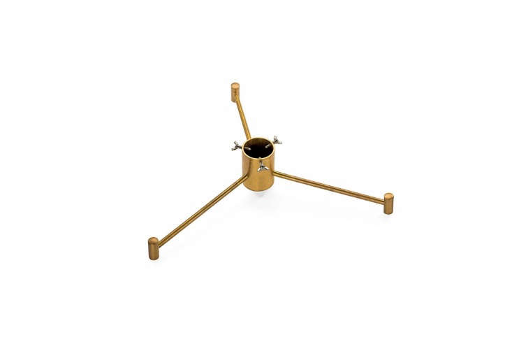 Manufactum&#8\2\17;s Brass Christmas Tree Stand is simple but solid; €5\25 (\$6\18 USD).
