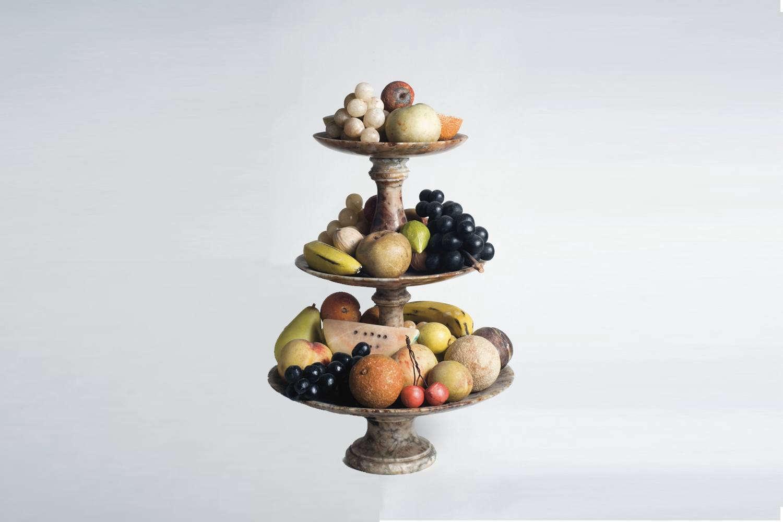 italian carrara marble fruit
