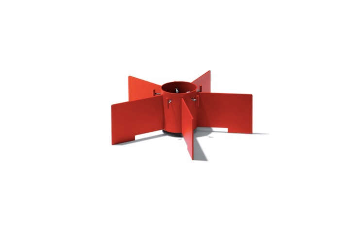 SMD Design&#8\2\17;s Turboprop Christmas Tree Stand is made of powder-coated metal and also comes in white and gray; \1,\2\29 SEK (\$\145 USD) at Scandinavian Design Center.