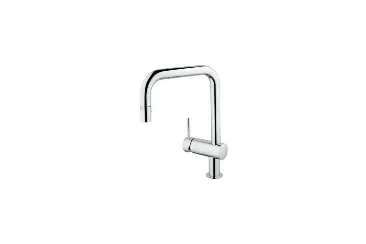 the minta single handle pull down kitchen faucet by grohe is \$33\1.98 on amazo 19