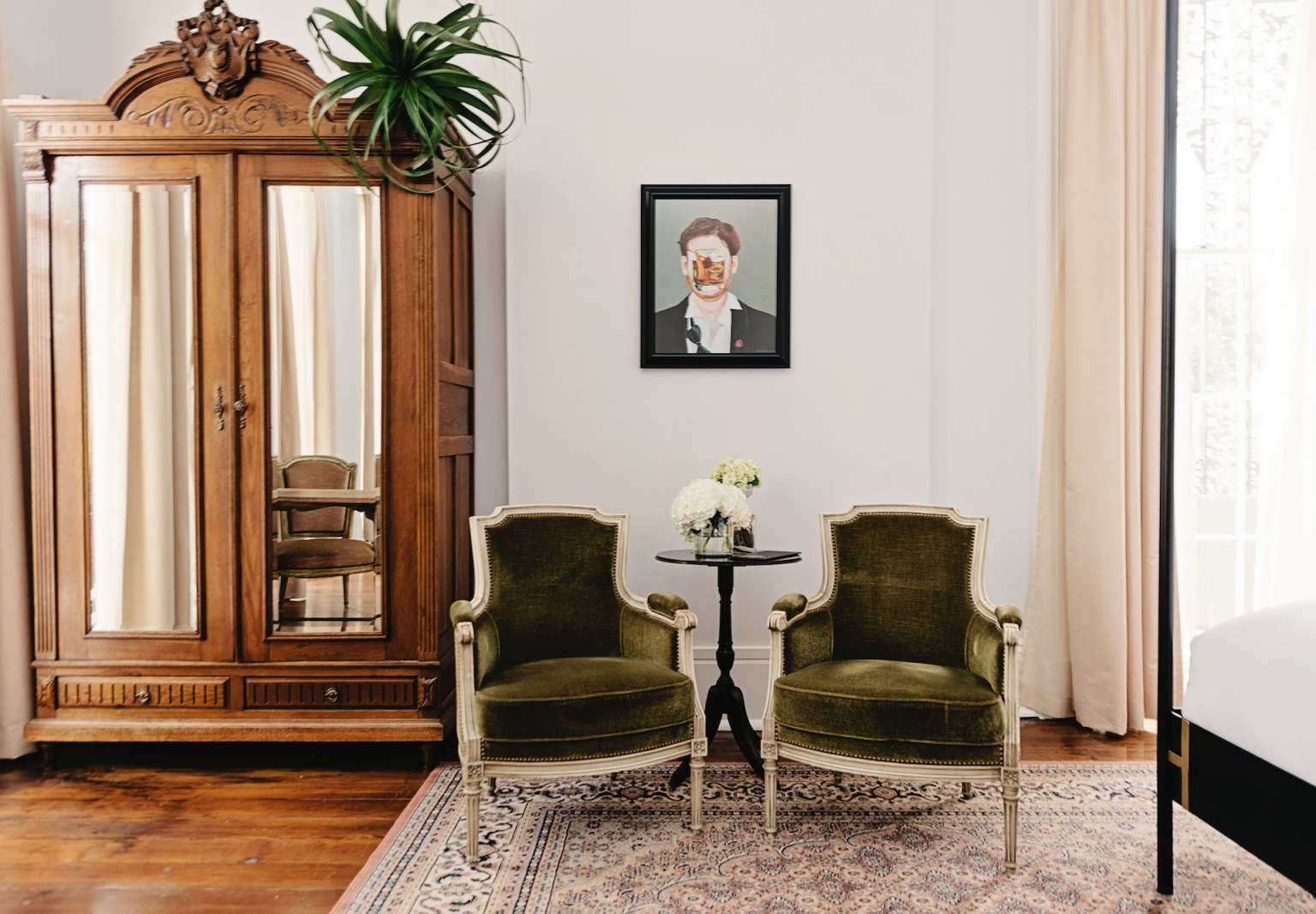 henry hall hotel new orleans chairs armoire