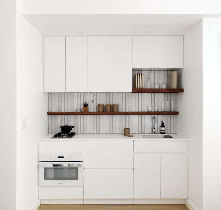 A stylish and well-thought-out small kitchen. Photograph by and courtesy of Denise Lee, from A Tiny Kitchen Made for Cooking: Everything You Need in  Square Feet.