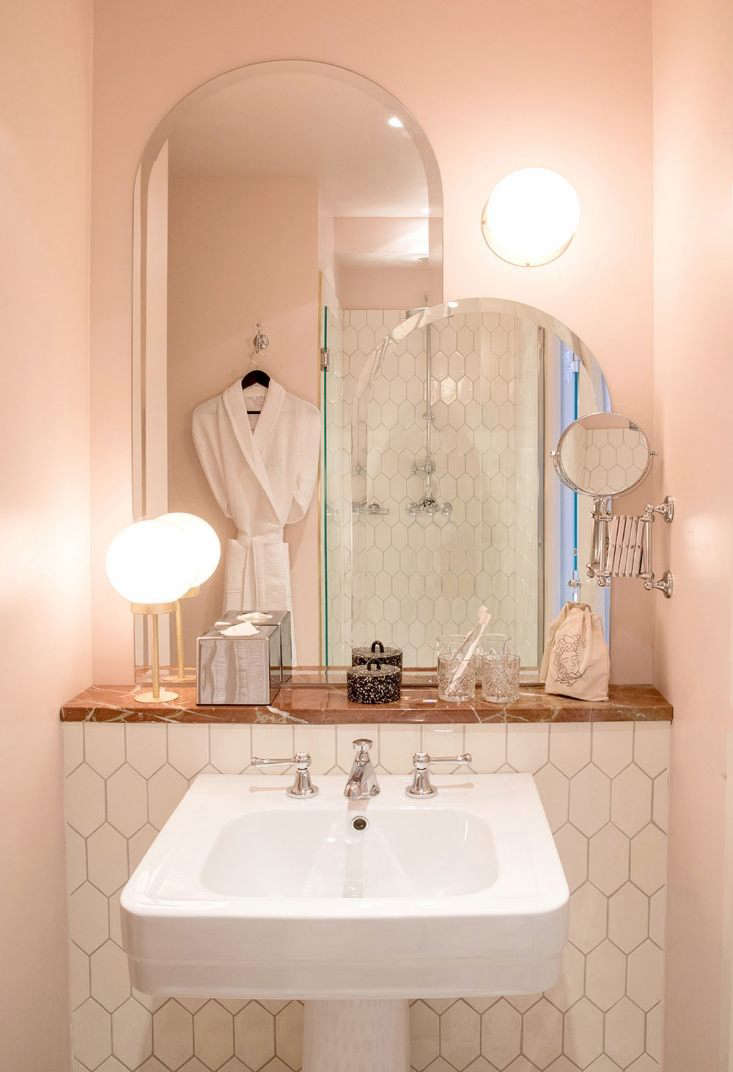 enchanting pink ceiling bathrooms | PNC Real Estate Newsfeed » Powder Room: 8 Favorite Pink ...