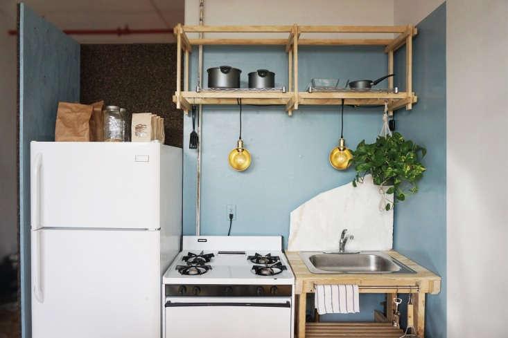 Kristina Line and Anton Bak Bushwick Apartment Kitchen