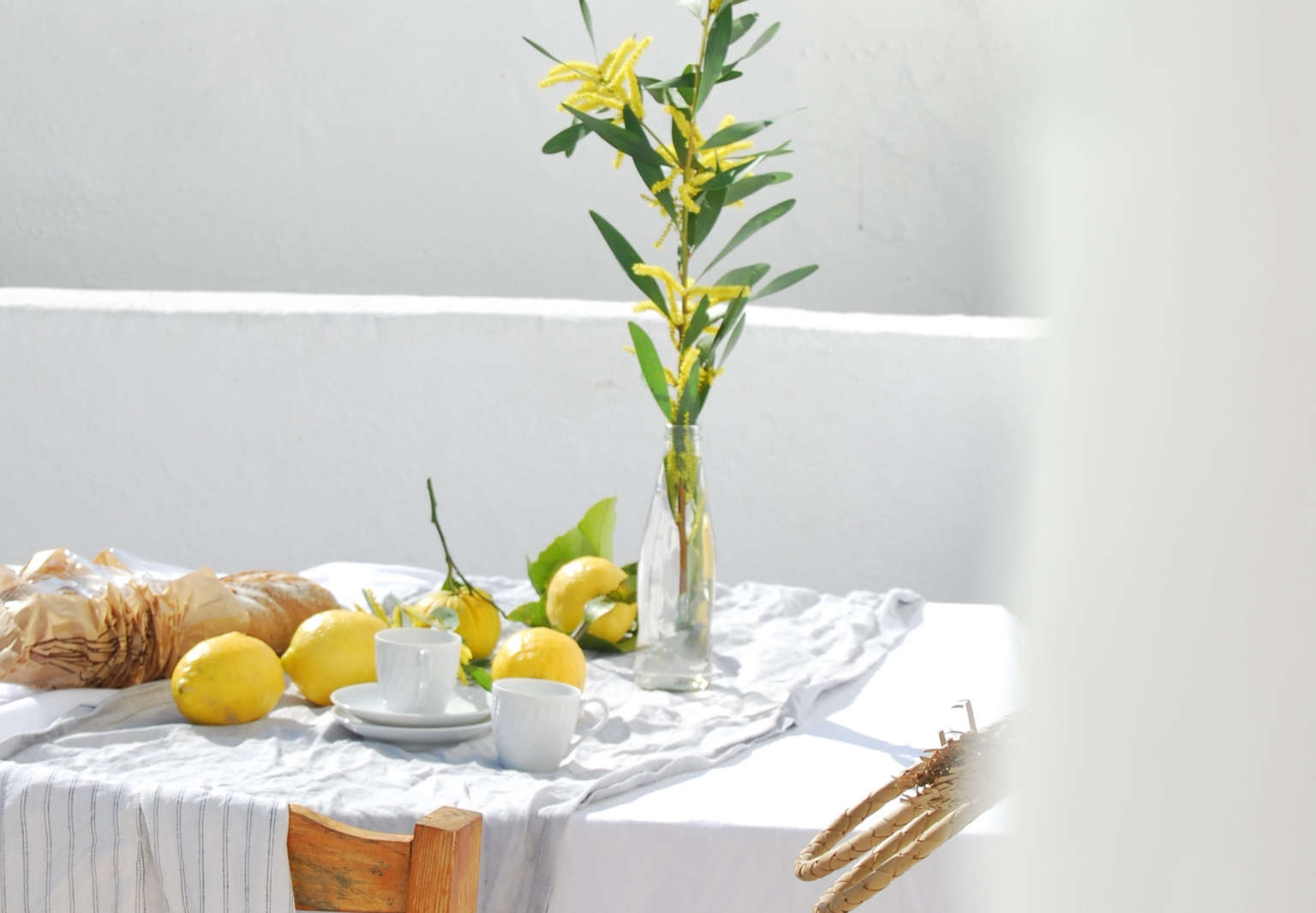 lemons acacia branches outdoor dining portugal chelsea fuss