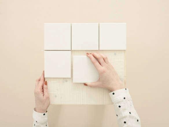 Merola Tile – Twist Square White Ice 4 in. x 4 in. Ceramic Wall Tile