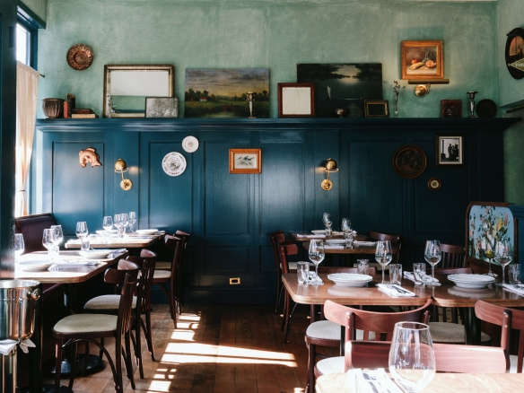 St. Lawrence In Vancouver: A Sultry, Blue Hued Bistro, Right Out Of A  Painting