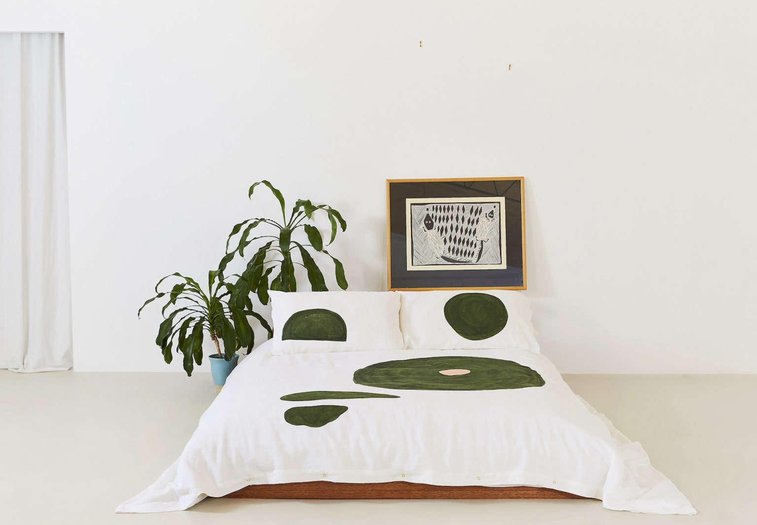 the vallentine project duvet cover olive runes
